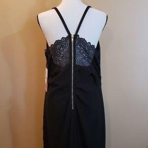 Black Lacey Back Full Length Dress Sz 1X NWT